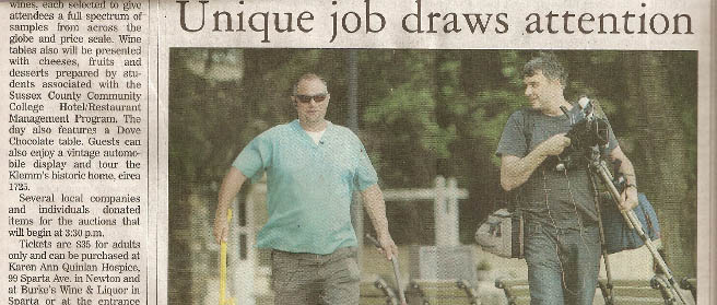 Owner Richard Roy aka Dr Pooper Scooper Newspaper Article Picture